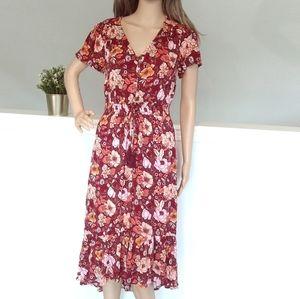 Knox ROSE Maxi Maroon Floral Dress boho modestly